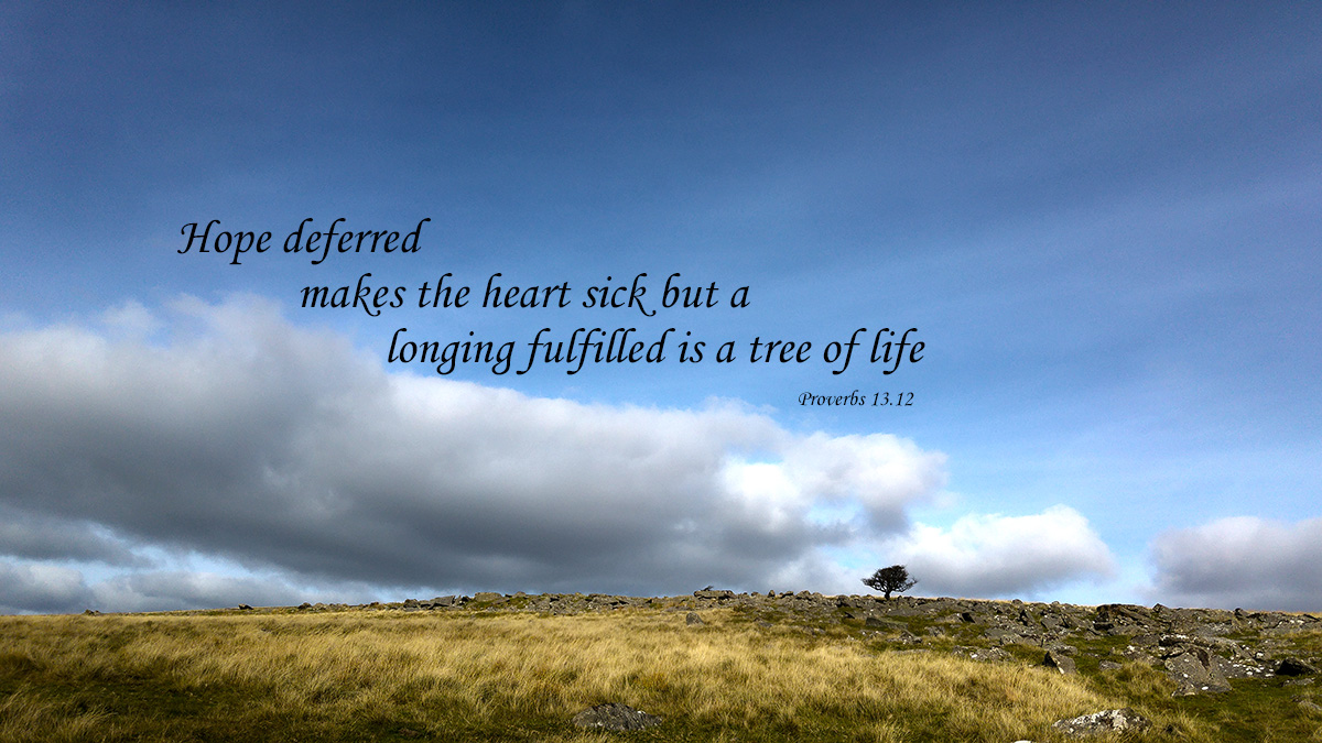 Hope deferred - Proverbs 13.12