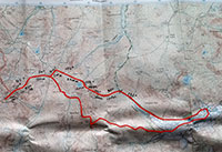 Map route to Scafell Pike